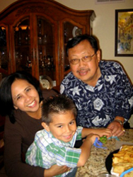 Ibu and Pak Djoko with Tyler